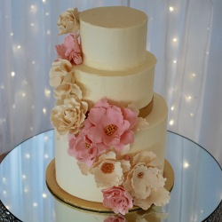 Sugar Flowers Wedding Cake