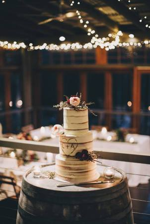 Wedding 3 tier semi naked
