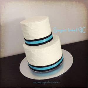 Black and turquoise ribbon Sugar Treat