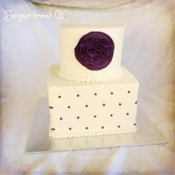 Square and round diamond pattern and ruffle flower Sugar Treat