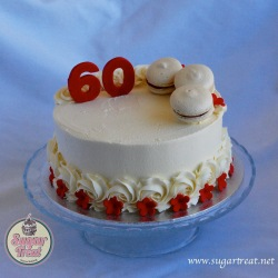 CD8. Red and white with macarons