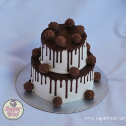 2 tier with Ferrero Rochers
