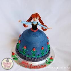 Anna Frozen Doll cake
