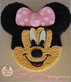 Minnie face in buttercream