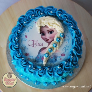 Frozen edible print with hair