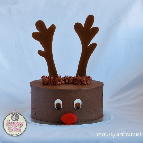 Red Nosed Reindeer chocolate cake (from $75)