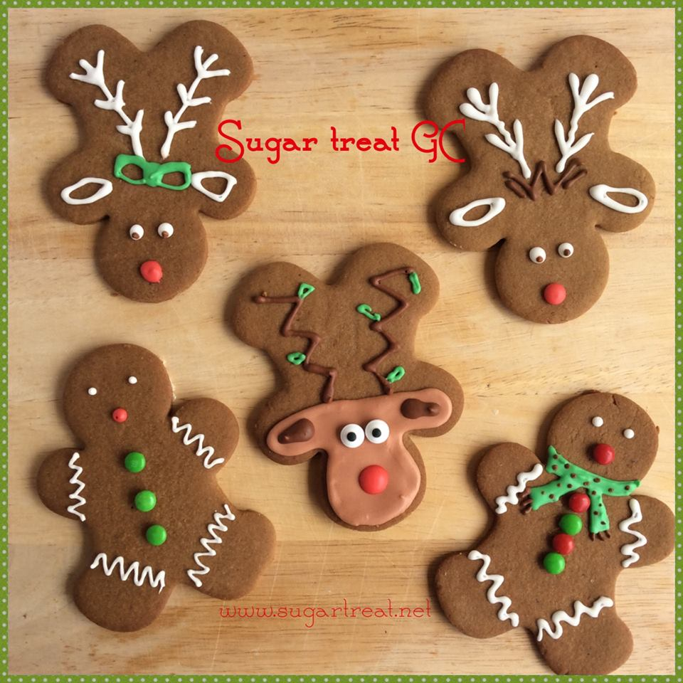 Gingerbread Man And Reindeer Sugar Treat Home Baking On The