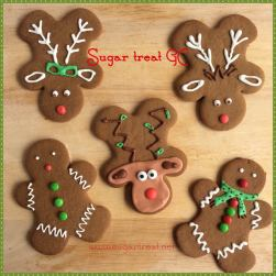 Gingerbread man and reindeer cookies (from $3.50 each)