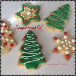 Christmas trees and snowflakes sugar cookies (from $3.50 each)