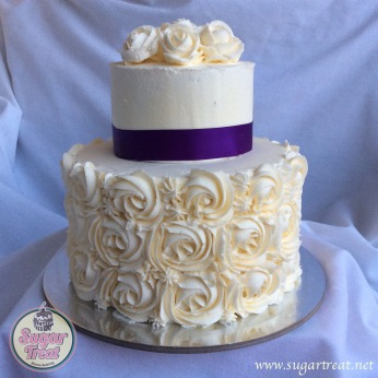 Wedding Swirls and purple ribbon