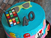 80's cake one tier 2