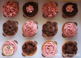 Chocolate and strawberry cucpakes1