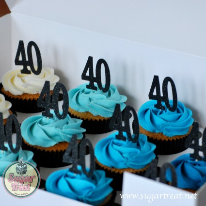 Cupcakes blue ombre 40