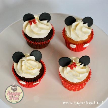 Cupcakes Minnie Mickey top