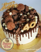 Drizzle chocolate 40th 9x5