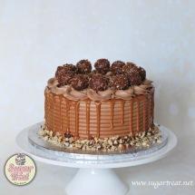 Ferrero Rocher with caramel drizzle
