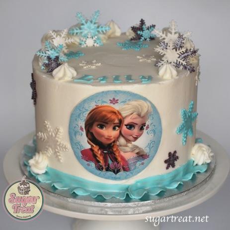 Frozen sisters portait snowflakes