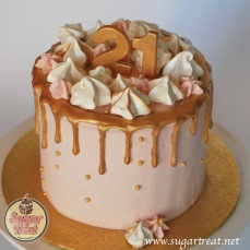 Gold Drizzle 21st with meringues