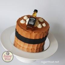 Jack Daniel Small birthday cake JD