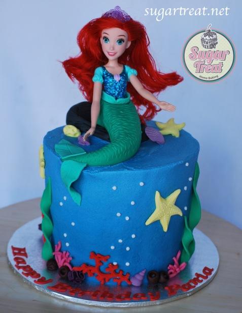 Little Mermaid doll cake