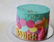 Mermaid turquoise cake