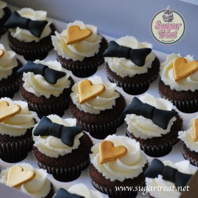 Mini Cupcakes gold and black