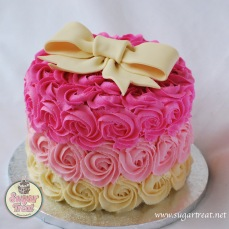 Pink ombre ivory bow