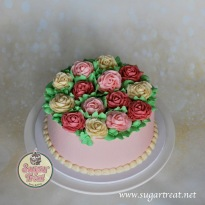 Roses in buttercream