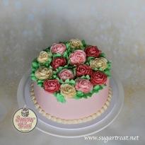Roses in buttercream