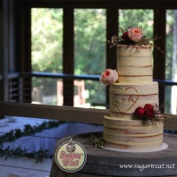 Wedding 3 tier semi naked carved2