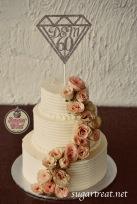 Wedding anniversary 60th flowers roses cascade