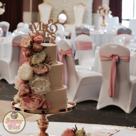 Wedding Cake Silk Peonies1