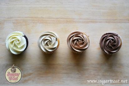 Wedding Cupcakes 4 colour ombre