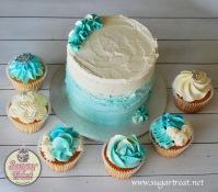 Wedding shades of blue cupcakes